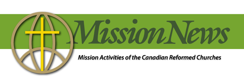 Go to the Mission News website. Mission activities for the Canadian Reformed Churches.
